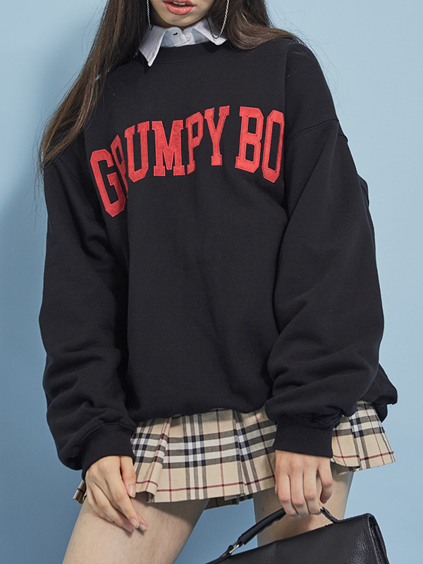 PROJECT - GRUMPY BOY SWEAT SHIRT (BLACK) - UNISEX