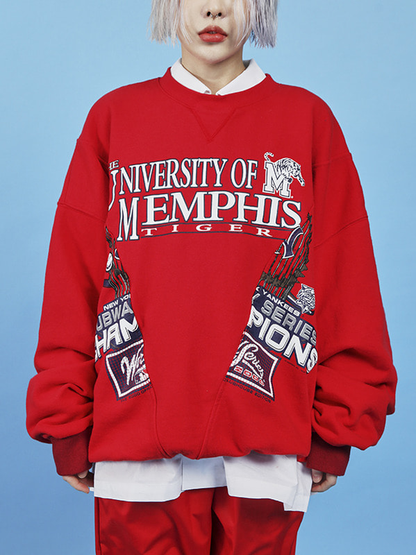 memphis boxy sweat shirt (2 color) -UNISEX