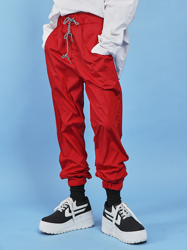 slippery windbreaker pants (4 color)