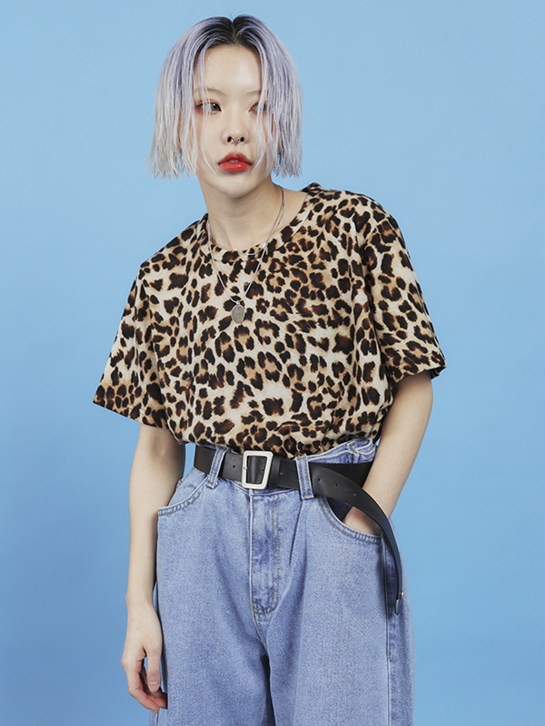 leopard 1/2 T (2 color) -UNISEX