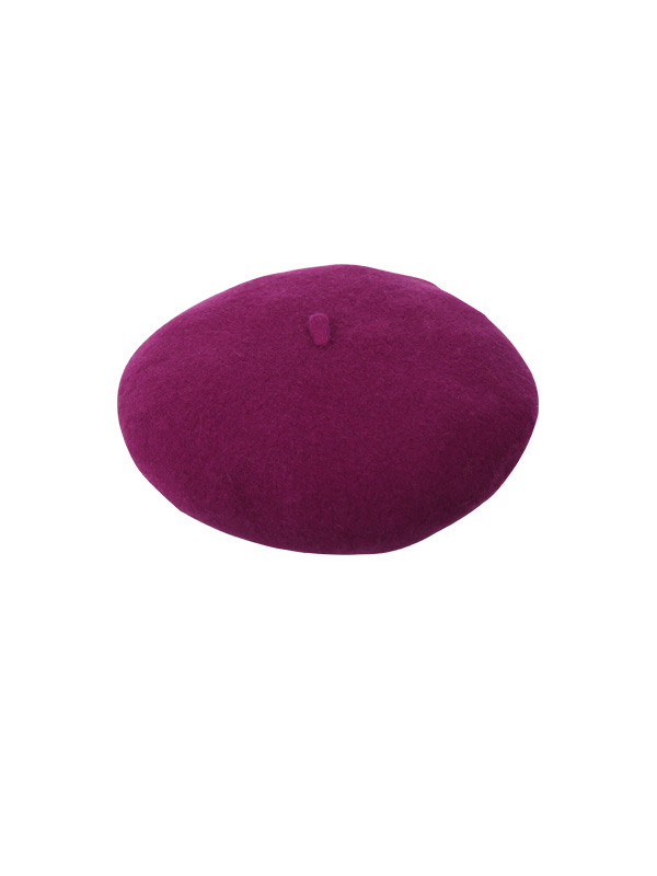 purple spherical beret