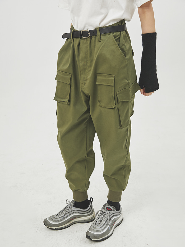 supple cargo jogger pants (2 color) - UNISEX