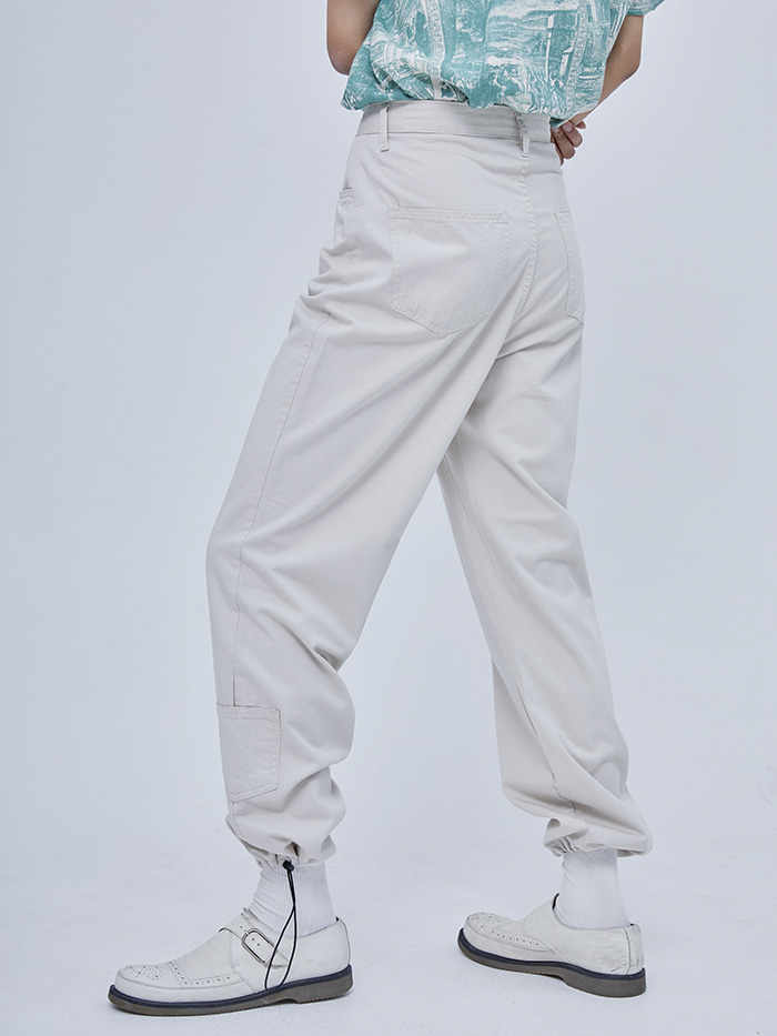 cotton string pocket pants (3 color) - woman