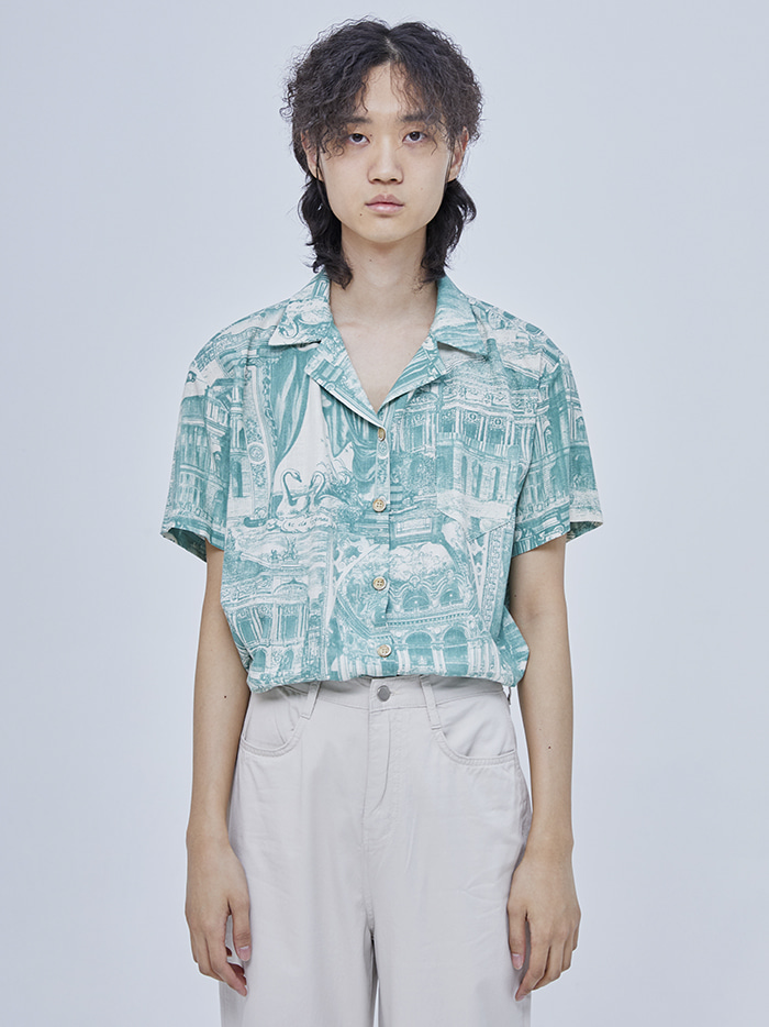 collar vintage shirts (2 color) - woman