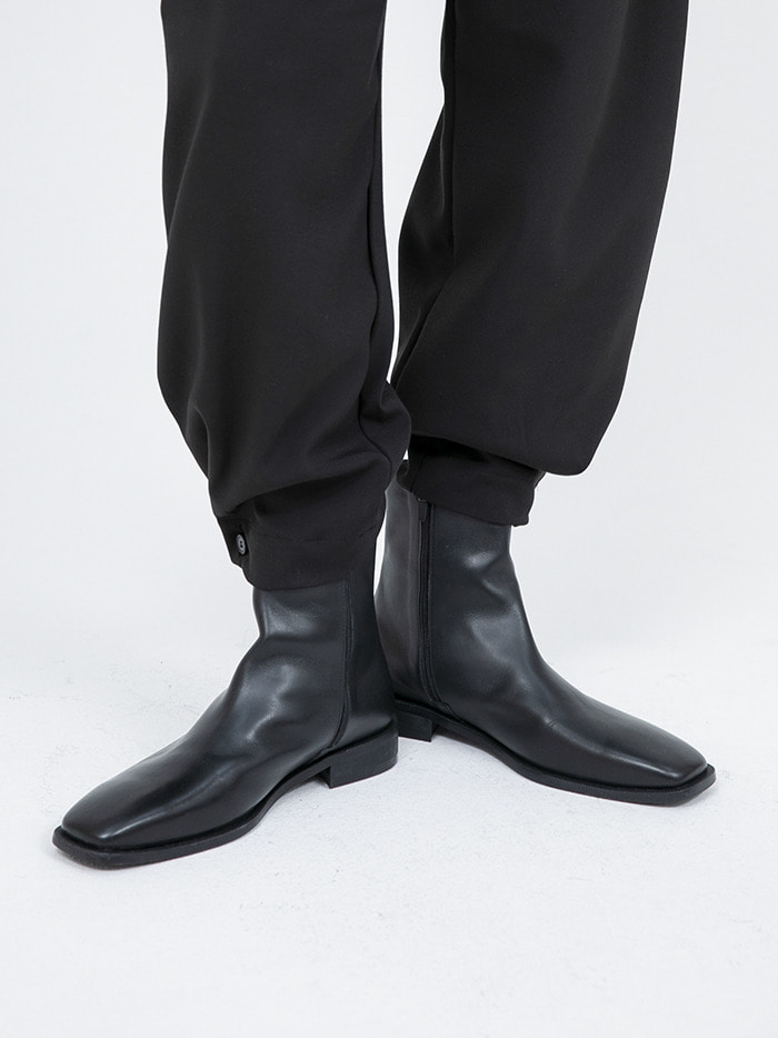 cow hide slim ankle boots - men