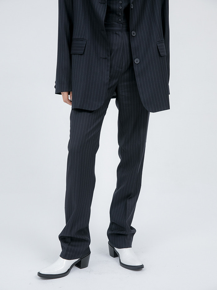 regular-fit stripe slacks - woman