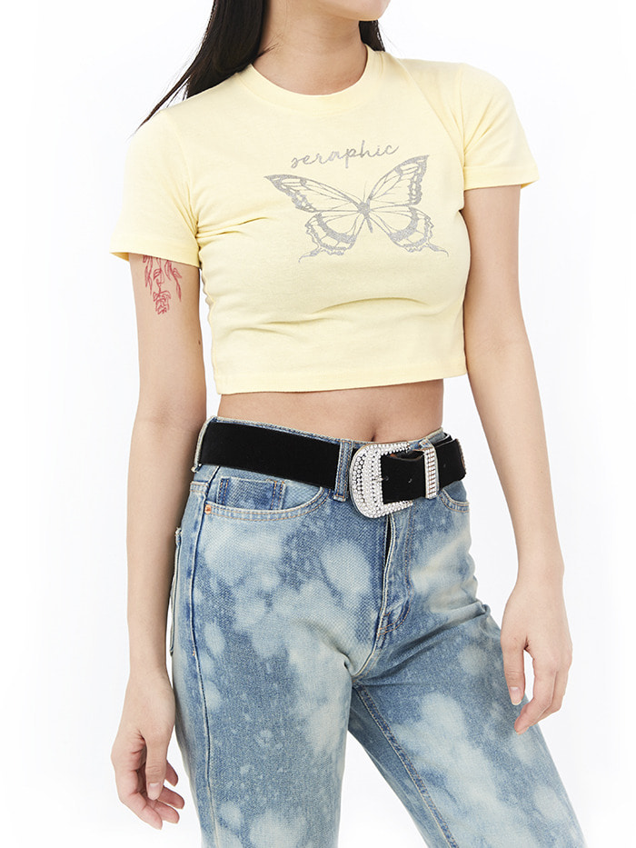 90s butterfly crop 1/2 T (3 color)