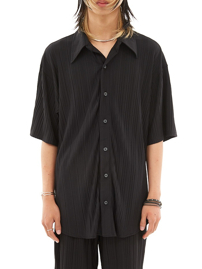 pleats 1/2 pique shirts (3 color)
