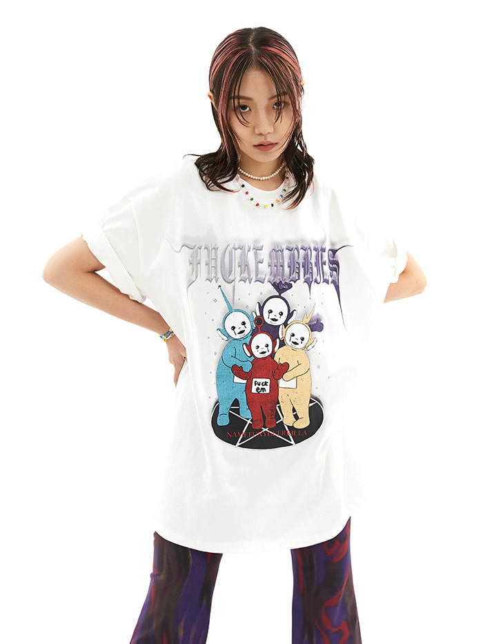 punk teletubbies 1/2 T (2 color)