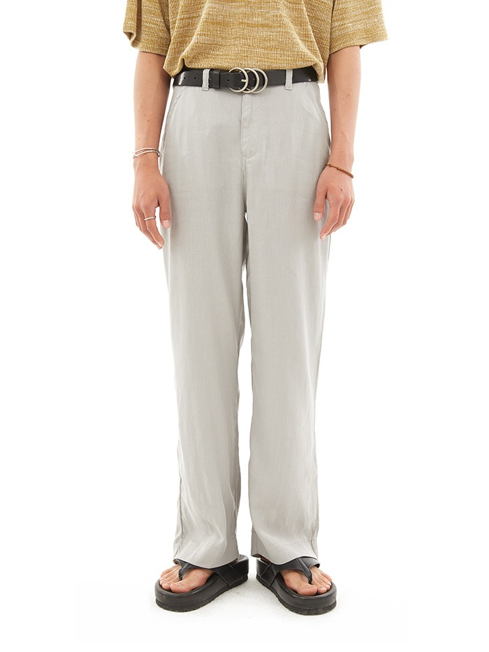 light basic slim slacks (2 color)