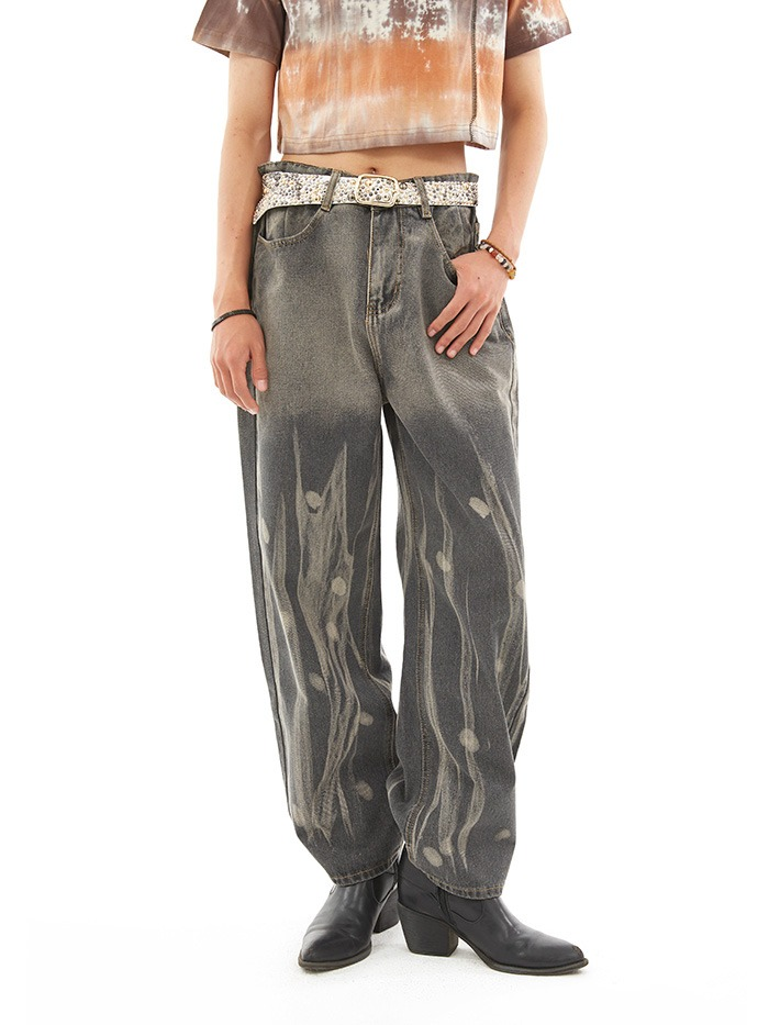 analogue wide denim pants