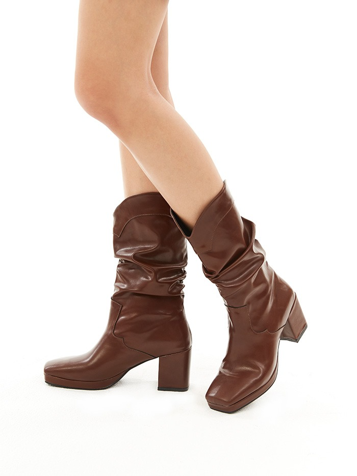 shirring western boots (3 color)