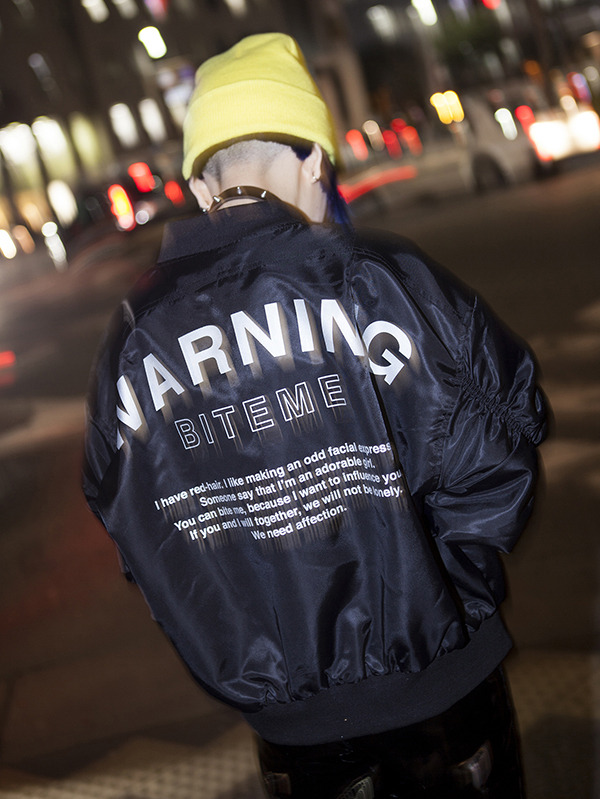 WARNING MA-1 (BLACK)