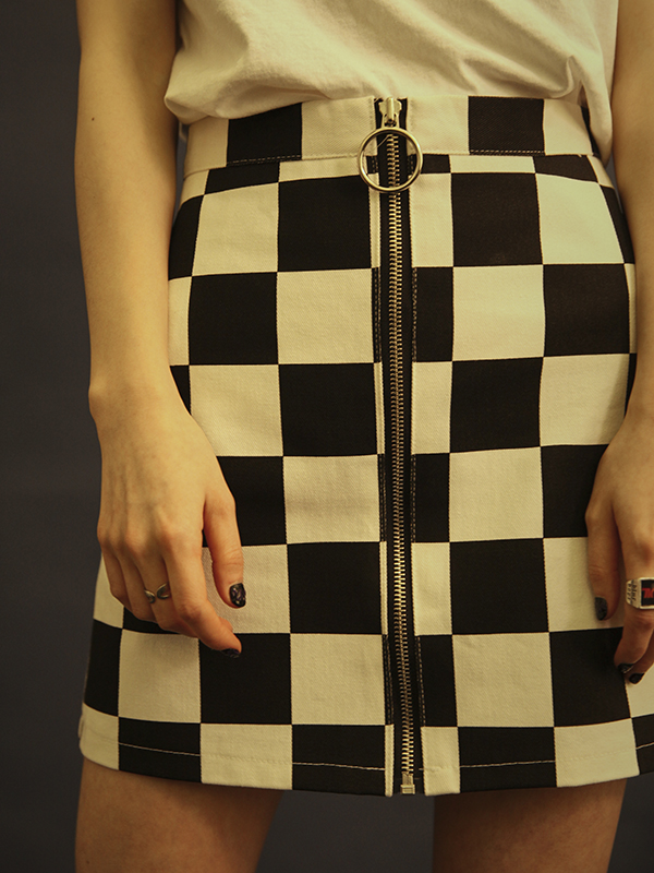 chess mini skirt