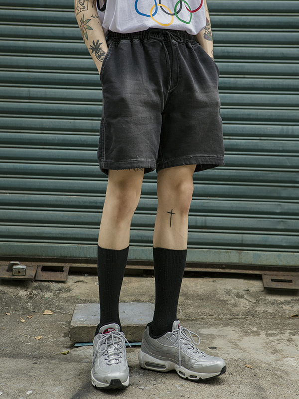 vintage washing string shorts - UNISEX