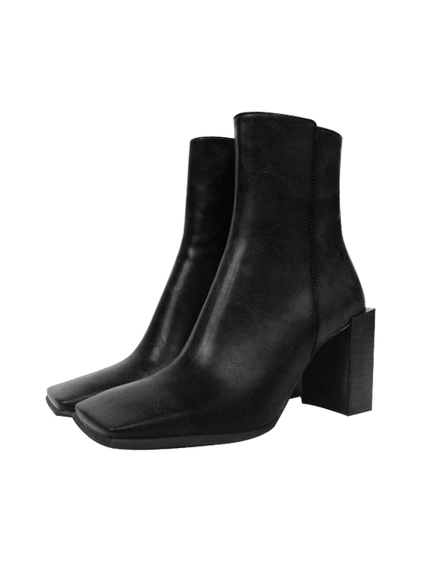 square ankle boots (3 color)