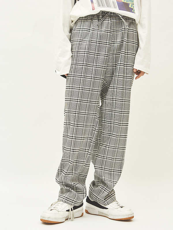 glen check string slacks (2 color) - UNISEX