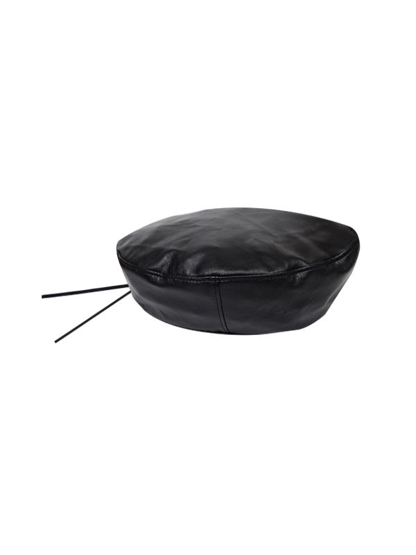 leather beret (3 color)