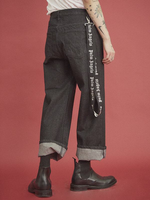 wide denim pants (2 color) - UNISEX