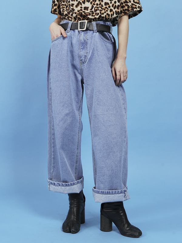 wide original denim pants