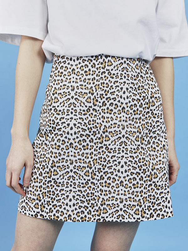 leopard mini skirt (2 color)