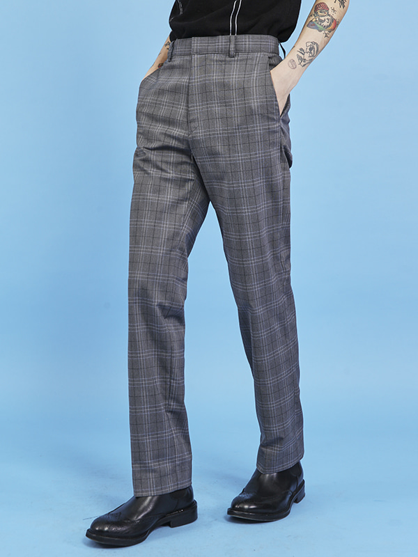 check straight slacks (2 color) - UNISEX