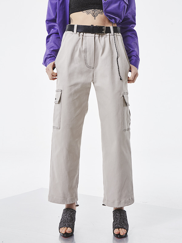 PROJECT - STITCH POCKET PANTS (GRAY) - UNISEX
