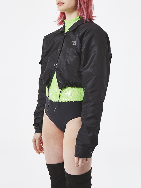 PROJECT -  UNSOCIAL COACH JACKET (BLACK)