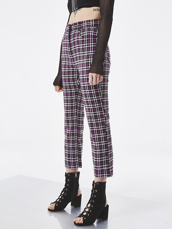 PROJECT - PURPLE CHECK PANTS
