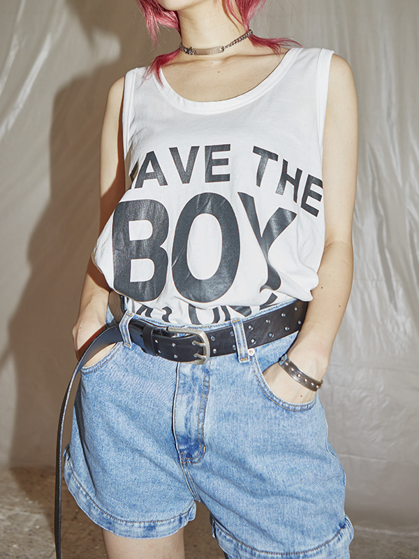 leave the boy sleeveless (2 color) - UNISEX