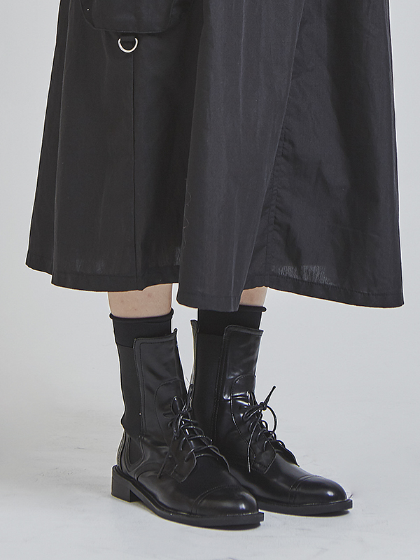 lace-up chelsea boots (2 type)