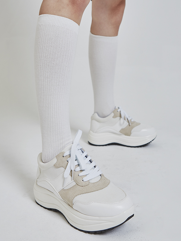sporty platform sneakers (2 color)