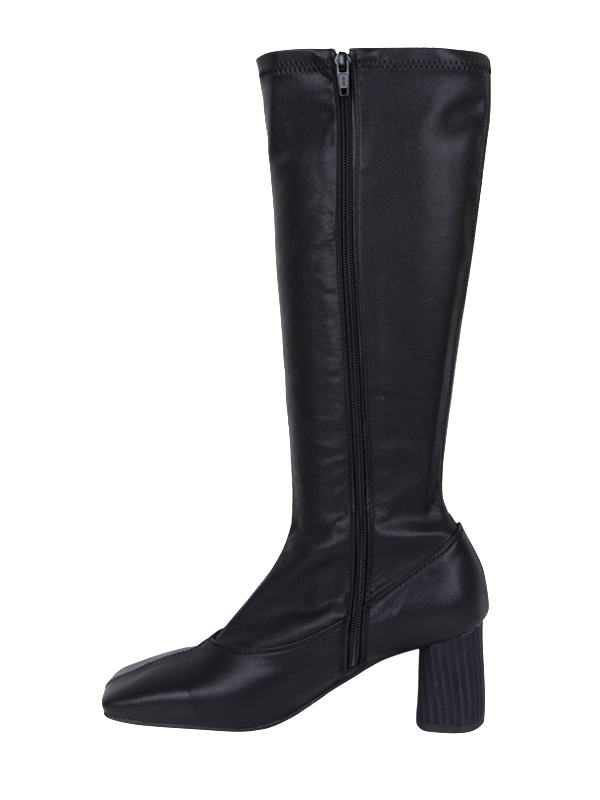 square slim high boots (2 type)